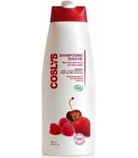 Shampoing Douche Vitaminé aux Fruits Rouges 750ml - Coslys