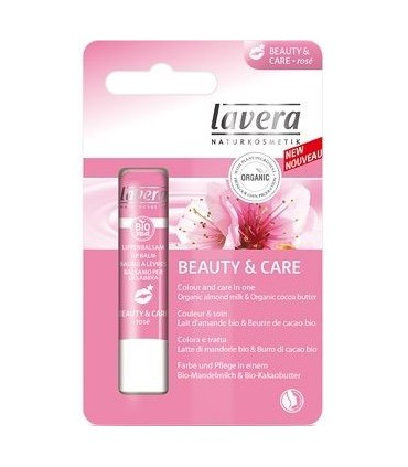 Baume à Lèvres Rosé Beauty & Care - Lavera
