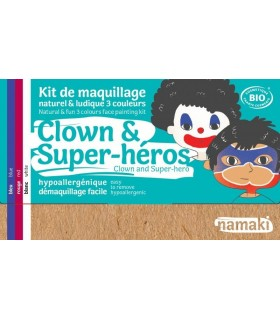 Kit de Maquillage Bio Enfant Clown & Super-Héros - namaki